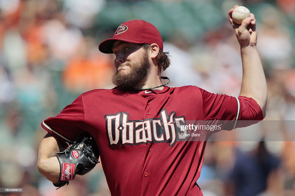 Starting pitcher Wade Miley #36 of the Arizona Diamondbacks delivers a pitch against the San Francisco Giants at AT&T Park on September 8, 2013 in San Francisco, California. The Giants won 3-2 in 11 innings.
