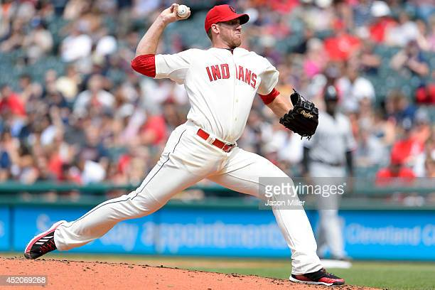 Starting pitcher Zach McAllister of the Cleveland Indians pitches during the second inning against the Chicago White Sox at Progressive Field on July...