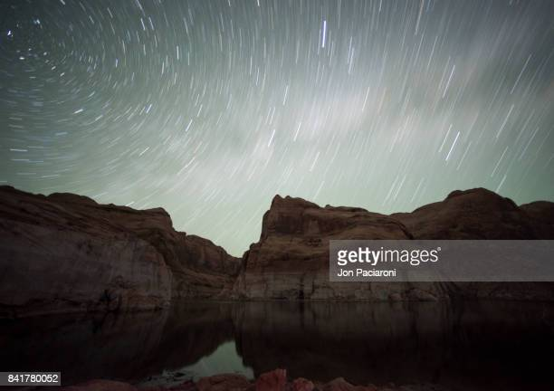 Startrails Spinning over Escalante Canyon above Lake Powell