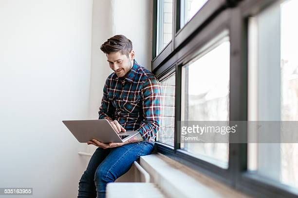 Start-up Businesman Working On Laptop