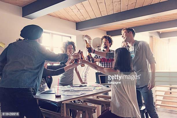 Startup Business Celebrating