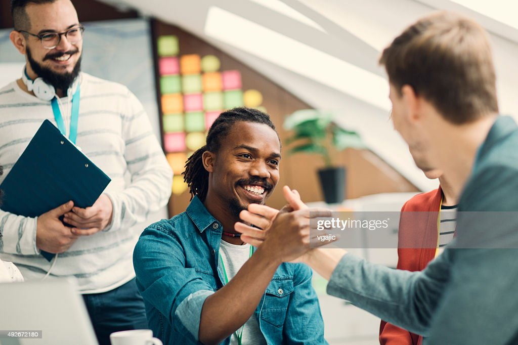 Startup Business Team Agreement. : Stock Photo