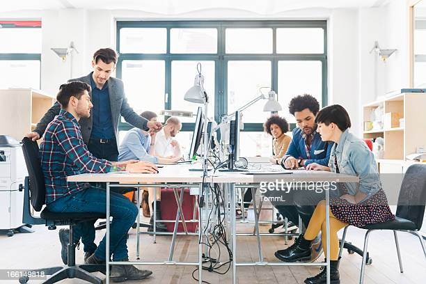 Start-up Business Team Working in Office