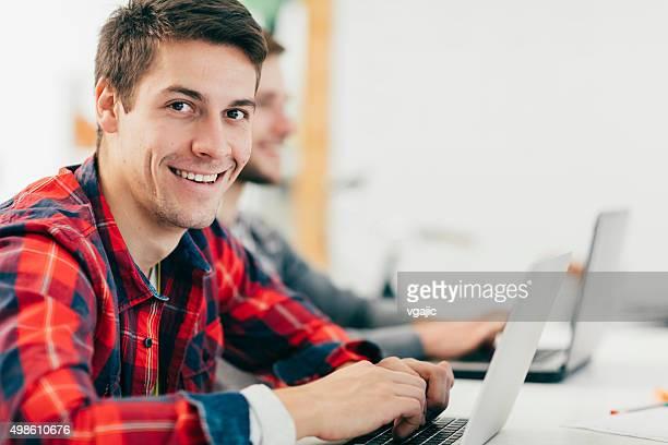 Start-up Development Team In Their Office.