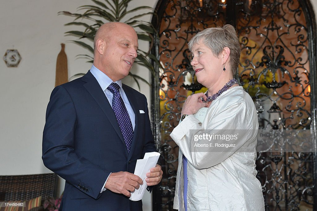 Starz CEO Chris Albrecht and British Consul-General in Los Angeles Barbara Hay attend The Brittish Consulate's toast of the U.S. launch of the Starz original series 'The White Queen' on July 25, 2013 in Los Angeles, California.