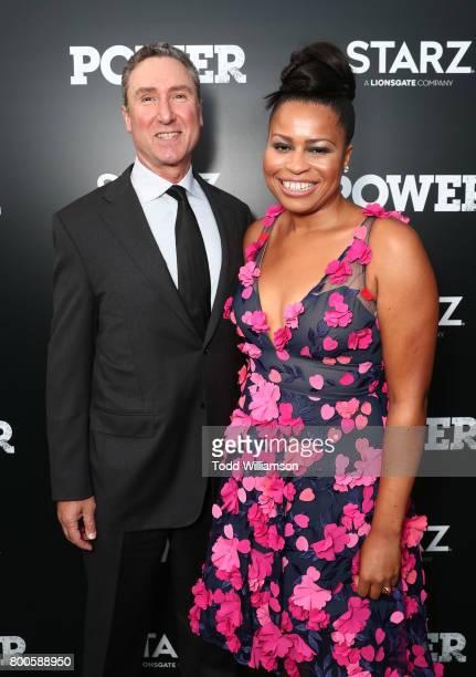 Starz President Original Programming Carmi Zlotnik and Writer/Creator/EP Courtney Kemp attend STARZ 'Power' Season 4 LA Screening And Party at The...