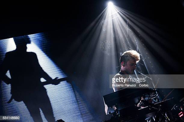 Stash and Daniele Mona of the Italian group The Kolors performs in concert at Atlantico Live Club on May 23 2016 in Rome Italy