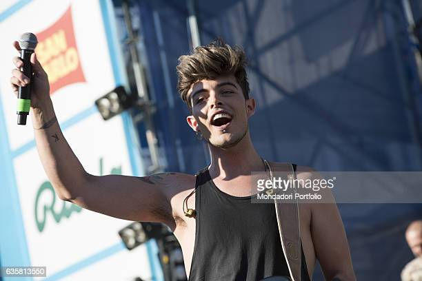 Stash frontman of the Italian band The Kolors during their concert at the summer touring festival 'Festival Show 2016' Jesolo Lido 11th August 2016