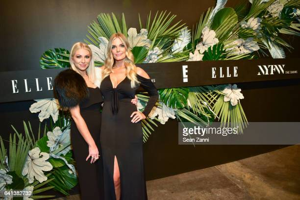 Stassi Schroeder and Lauren Wirkus attend ELLE E And IMG Host New York Fashion Week February 2017 KickOff Event at 40 Bethune Street on February 8...
