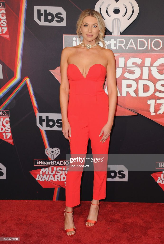Stassi Schroeder arrives at the 2017 iHeartRadio Music Awards at The Forum on March 5, 2017 in Inglewood, California.