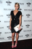 Stassi Schroeder arrives at the Body English nightclub inside the Hard Rock Hotel Casino on March 29 2014 in Las Vegas Nevada
