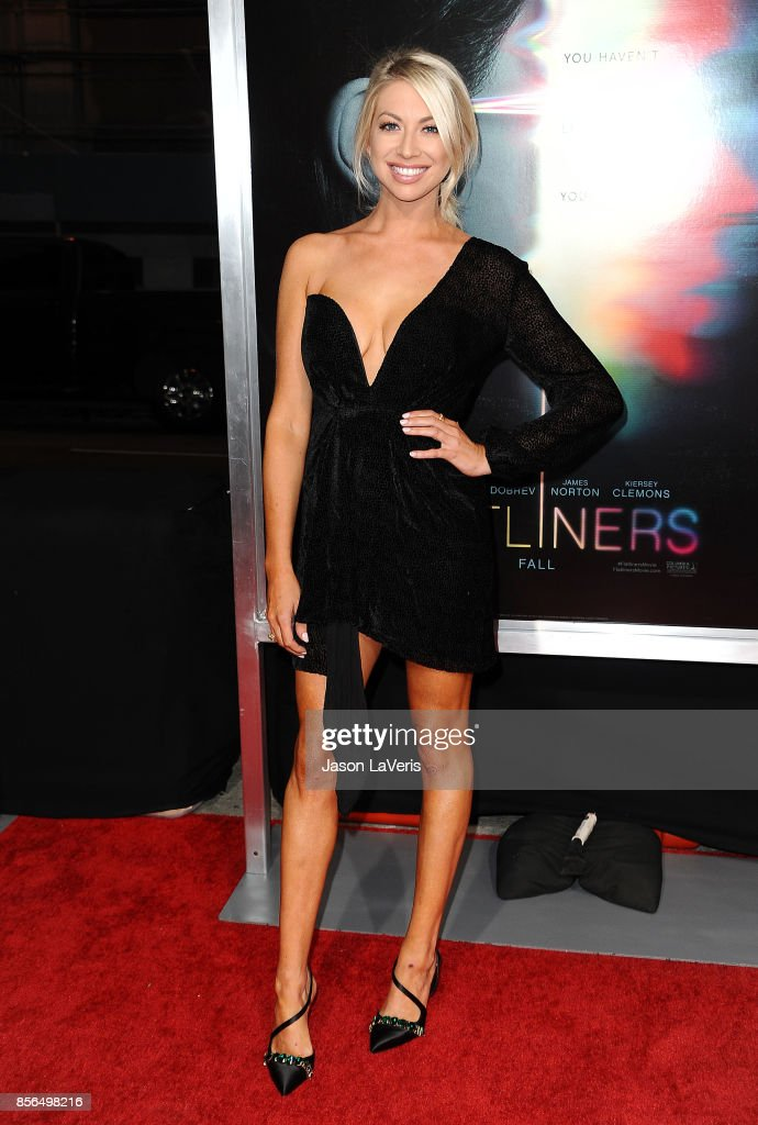 Stassi Schroeder attends the premiere of 'Flatliners' at The Theatre at Ace Hotel on September 27, 2017 in Los Angeles, California.