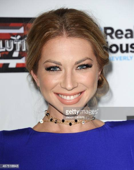 Stassi Schroeder attends the 'The Real Housewives of Beverly Hills' and 'Vanderpump Rules' premiere party at Boulevard3 on October 23 2013 in...