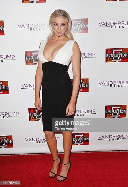Stassi Schroeder attends the 'Vanderpump Rules' premiere party at The Church Key on October 28 2015 in West Hollywood California