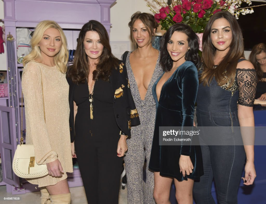 Stassi Schroeder, businesswoman Lisa Vanderpump, Scheana Marie, and Katie Maloney pose for portrait at The Vanderpump Dog Center Preview on March 1, 2017 in Los Angeles, California.