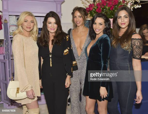 Stassi Schroeder businesswoman Lisa Vanderpump Scheana Marie and Katie Maloney pose for portrait at The Vanderpump Dog Center Preview on March 1 2017...