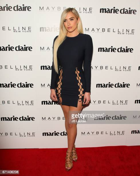 Stassie Karanikolaou attends Marie Claire's 'Fresh Faces' celebration with an event sponsored by Maybelline at Doheny Room on April 21 2017 in West...