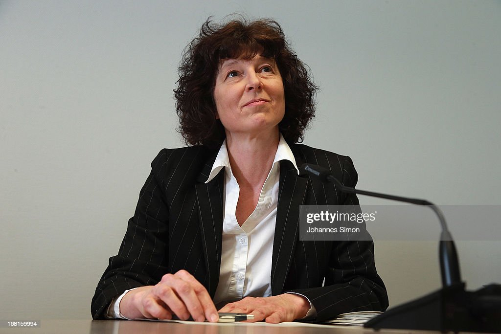 State attorney Anette Greger addresses the media during a press conference at the Oberlandesgericht Muenchen state court building on the first day of the NSU neo-Nazi murder trial on May 6, 2013 in Munich, Germany. The main defendant, Beate Zschaepe, is on trial for her role in assisting Uwe Boehnhardt and Uwe Mundlos in the murder of nine immigrants and one policewoman across Germany between 2000 and 2007. Four other co-defendants, including Ralf Wohlleben, Holder G., Carsten S. and Andre E., are accused of assisting the trio. Zschaepe, Mundlos and Boehnhardt lived together for years undetected by police and called themselves the National Socialist Underground, or NSU. The case only came to light after Mundlos and Boehnhardt committed suicide when the two were cornered by police following a bank robbery in 2011.
