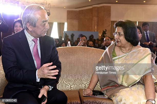 State Bank of India Chairman Arundhati Bhattacharya and Kenji Hiramatsu Japan Ambassador to India during an inauguration of SBI Japan Desk facilitate...