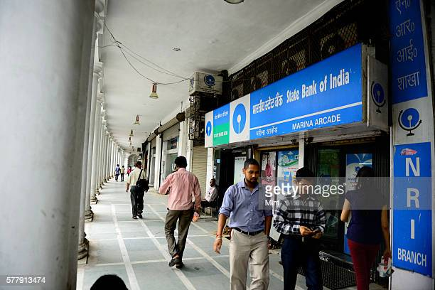 State Bank of India NRI branch photographed regarding bank for stock on August 8 2014 in New Delhi India