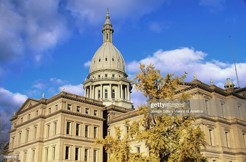 State Capitol Building and Fall Foliage