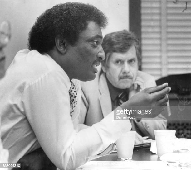 State Capitol Cable TV Left to right Senate Minority Leader Regis Groff DDenver Sen Ron ***** DDenver Credit The Denver Post