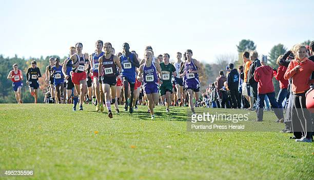 State championship cross country meet at Twin Brook Recreational Area Start of the boys class A run