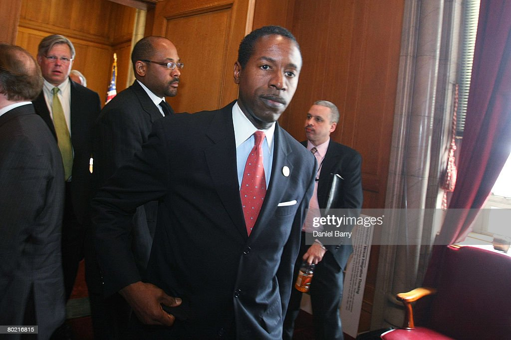 State Democratic Leader Malcolm A. Smith arrives to speak to members of the media in the State Capitol March 12, 2008 in Albany, New York. New York state Governor Eliot Spitzer announced his resignation today after various media reports have linked him to a prostitution ring. New York Lieutenant Governor David Paterson will take over for Spitzer when his resignation goes into effect Monday, March 17, 2008.