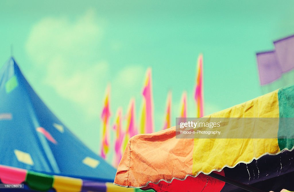 State fair tent tops : Stock Photo
