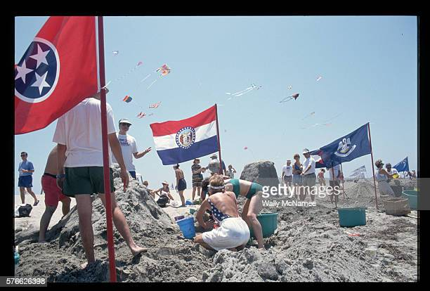 State Flags on the Beach