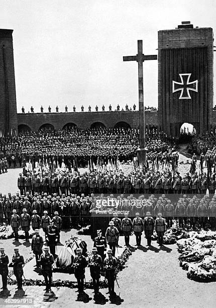 State funeral of President Paul von Hindenburg Tannenberg Germany 1934 Field Marshal Paul von Hindenburg served as Germany's president from 1925...