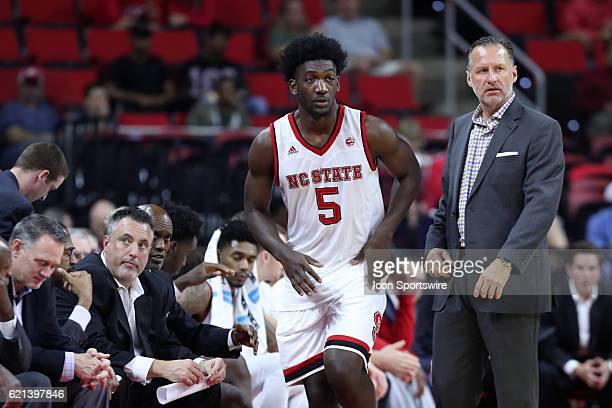 State head coach Mark Gottfried sends NC State's Darius Hicks to check into the game The North Carolina State University Wolfpack hosted the Lynn...