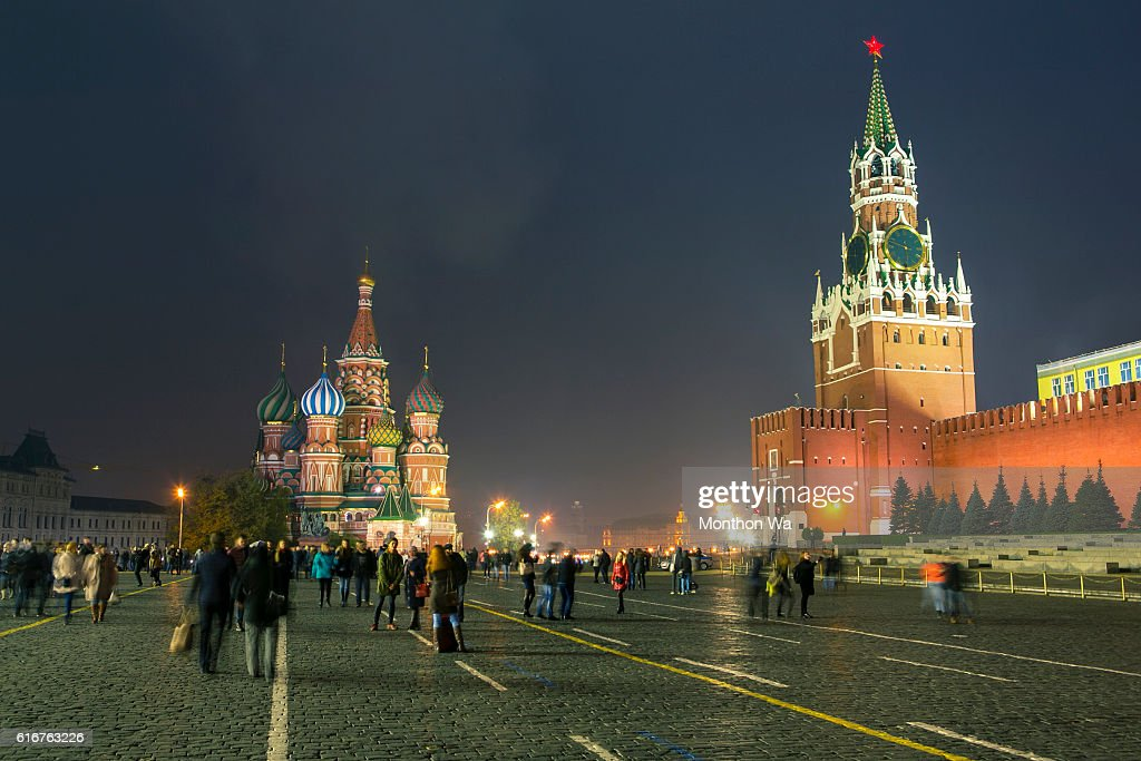 State Historical Museum and Kremlin tower : Stock Photo
