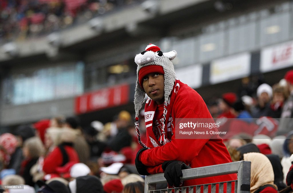 N.C. State junior Yanon Gray watches the action during the second half of the Franklin American Mortgage Music City Bowl at LP Field in Nashville, Tennessee, Monday, December 31, 2012. The Vanderbilt Commodores defeated the N.C. State Wolfpack, 38-24.