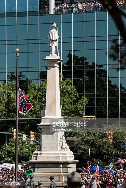 State law enforcement lowers the Confederate battle flag at the South Carolina state house July 10 2015 in Columbia SC Yesterday Governor Nikki Haley...