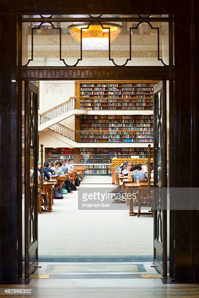 State library of NSW Sydney Australia with young people studying