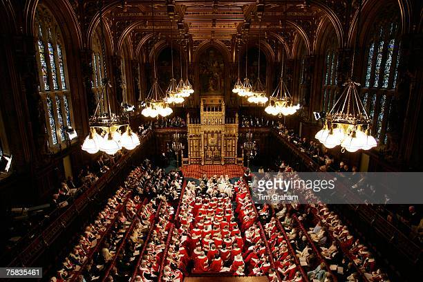 State Opening of Parliament in House of Lords Houses of Parliament London England United Kingdom