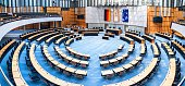 Interior of state parliament (Landtag) in Berlin, Germany