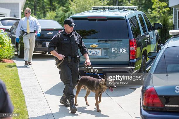 State Police K9 unit was brought inside the home of New England Patriots player Aaron Hernandez in North Attleborough Hernandez has been linked to...