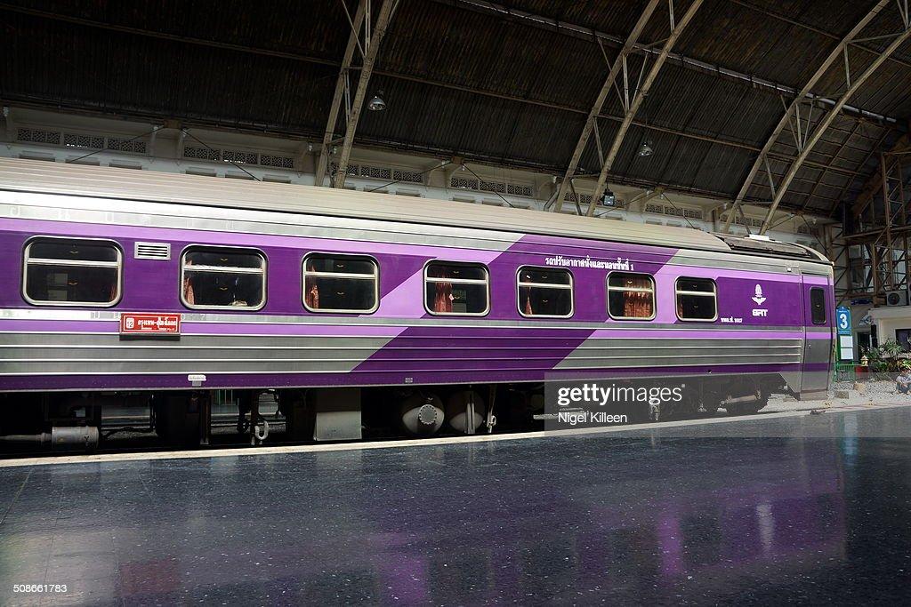 State Railway of Thailand train waiting to depart from Bangkok's Hua Lamphong railway station Bangkok Thailand