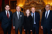 State Secretary of Tourism Matthias Fekl French Minister of Foreign Affairs Laurent Fabius Actress and Sponsor of 'Le Grand Tour' Isabelle Huppert...