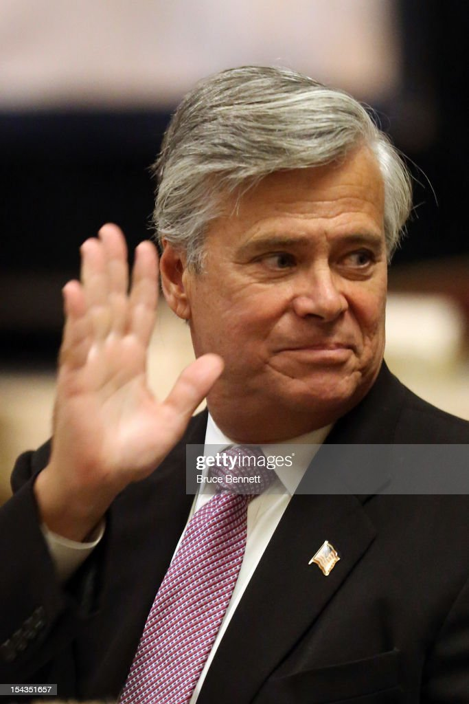 State Sen. Dean Skelos (R-NY) attends an appearance of former Vice President Dick Cheney at the Long Island Association fall luncheon at the Crest Hollow Country Club on October 18, 2012 in Woodbury, New York. Cheney discussed foreign and domestic issues, including the upcoming presidential election, at the business organization's luncheon.