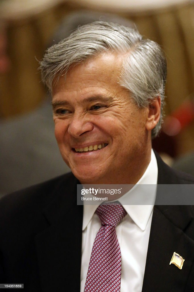 State Sen. <a gi-track='captionPersonalityLinkClicked' href=/galleries/search?phrase=Dean+Skelos&family=editorial&specificpeople=7875150 ng-click='$event.stopPropagation()'>Dean Skelos</a> (R-NY) attends an appearance of former Vice President Dick Cheney at the Long Island Association fall luncheon at the Crest Hollow Country Club on October 18, 2012 in Woodbury, New York. Cheney discussed foreign and domestic issues, including the upcoming presidential election, at the business organization's luncheon.
