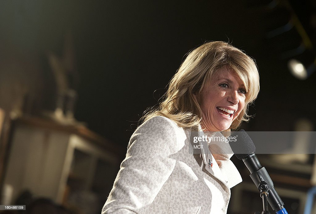 State Sen. Wendy Davis said she is 'very proud' to be representing Texans in the state senate when she spoke to Texas Democrats supporters at the Lone Star Project Inauguration Celebration on Sunday, January 20, 2013 at Hill Country Barbecue in Washington, D.C.