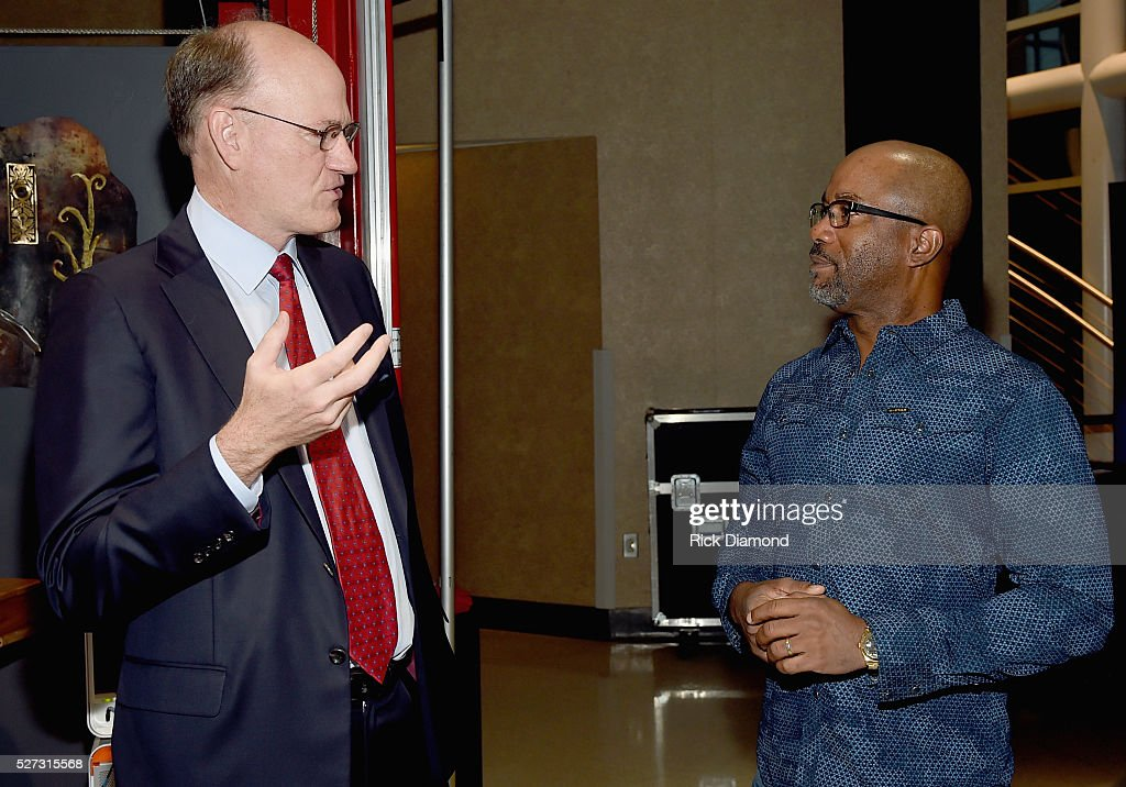 State Senator Steve Dickerson and Singer/Songwriter/NMAAM National Chairperson <a gi-track='captionPersonalityLinkClicked' href=/galleries/search?phrase=Darius+Rucker&family=editorial&specificpeople=215161 ng-click='$event.stopPropagation()'>Darius Rucker</a> attends NMAAM National Chairs And Fundraising Progress Press Confrence at Nashville Vistor Center on May 2, 2016 in Nashville, Tennessee.