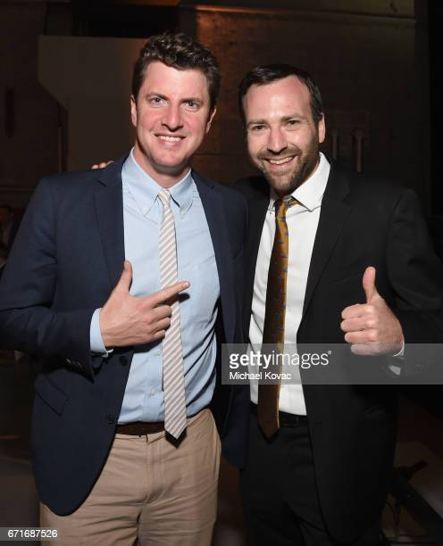 State Senators Henry Stern and Ben Allen at The Humane Society of the United States' To the Rescue Los Angeles Gala at Paramount Studios on April 22...