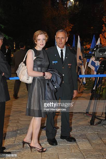 State visit in Israel of the French president Nicolas Sarkozy and his wife Carla Bruni Sarkozy State Diner with the President Shimon Peres in...