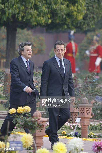 State visit of the President Nicolas Sarkozy in New Delhi India on January 26 2008French President Nicolas Sarkozy inspects the Guard of Honour...