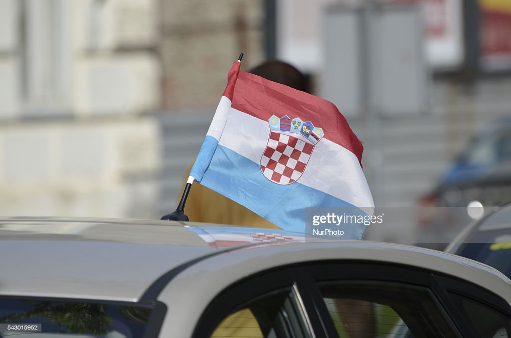 Statehood Day in Vukovar, Croatia on 25 Jun 2016. Vukovar city became a symbol of Croatian resistance and suffering in War of Independence.