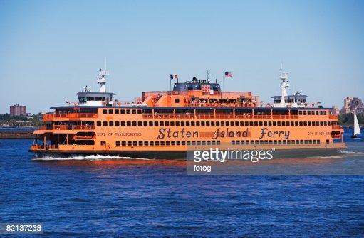 Staten Island Ferry on water, New York, United States